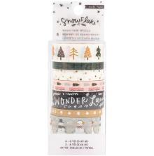 Crate Paper Washi Tape 8/Pkg - Snowflake