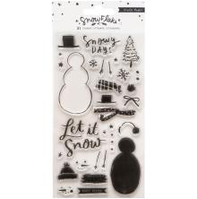 Crate Paper Acrylic Clear Stamps 31/Pkg - Snowflake