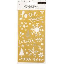 Crate Paper Metal Stencil - Snowflake