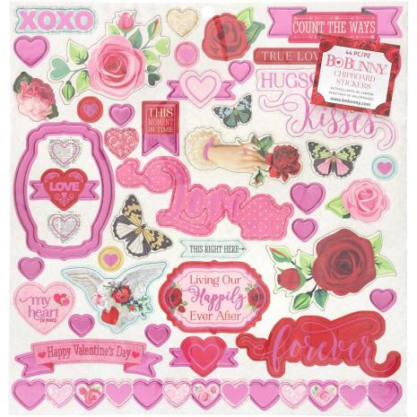 BoBunny Chipboard Stickers 12X12 - Count The Ways