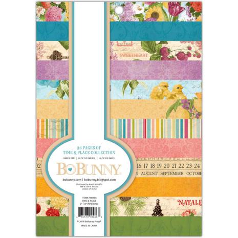 BoBunny Single-Sided Paper Pad 6X8 36/Pkg - Time & Place