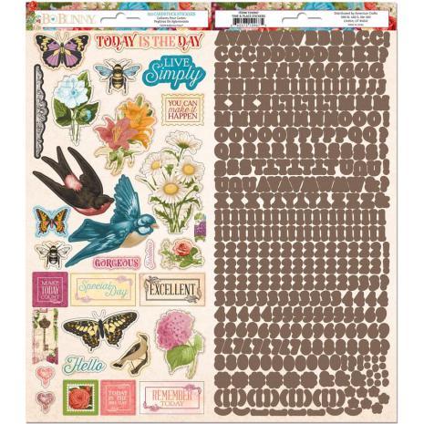 BoBunny Cardstock Stickers 6X12 413/Pkg - Time & Place