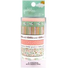 Pebbles Peek-A-Boo You Washi Tape 8/Pkg - Girl