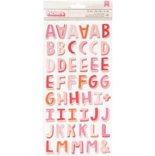 Pink Paislee Lucky Us Thickers Stickers 5.5X11 92/Pkg - Be Mine Alpha Foam