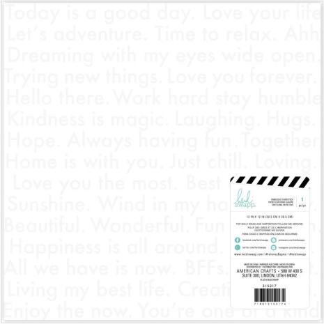 Heidi Swapp Honey & Spice Specialty Paper 12X12 - Embossed Cardstock