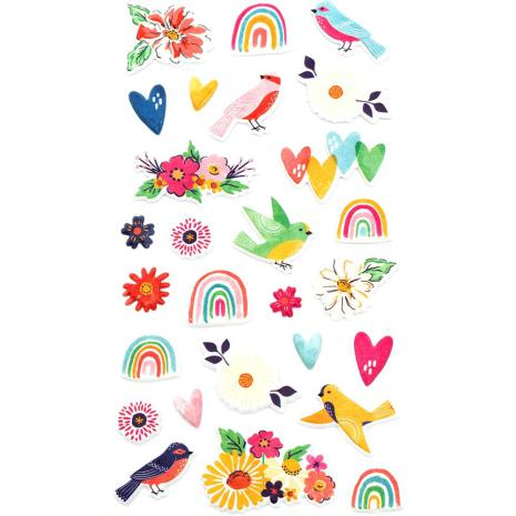 Dear Lizzy Puffy Stickers 27/Pkg - She's Magic