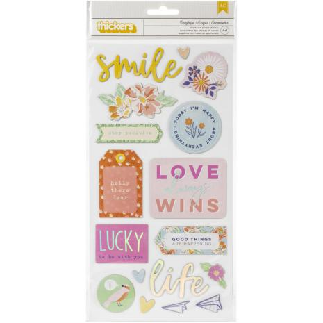 Dear Lizzy She's Magic Thickers Stickers 5.5X11 44/Pkg - Delightful Phrase & Icons