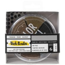 Vicki Boutin Color Wheel Pigment Ink Pads 6/Pkg Metallics - Wildflower & Honey