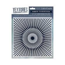 Crafters Companion Textures Elements 8x8 Embossing Folder - Sunbeam UTGÅENDE