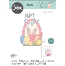 Sizzix Thinlits Dies - Easter Sentiments 20-01