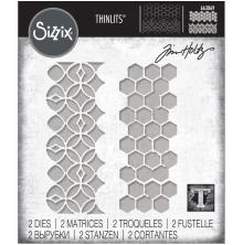 Tim Holtz Sizzix Thinlits Dies - Pattern Repeat 20-01