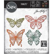 Tim Holtz Sizzix Thinlits Dies - Scribbly Butterflies 20-01