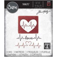 Tim Holtz Sizzix Thinlits Dies - Heartbeat 20-01