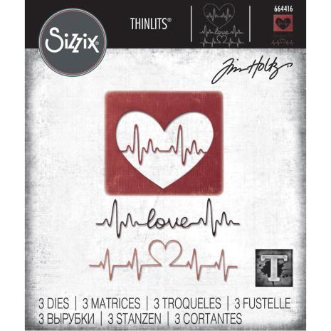 Tim Holtz Sizzix Thinlits Dies - Heartbeat 20-01