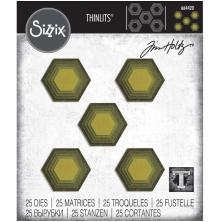 Tim Holtz Sizzix Thinlits Dies - Stacked Tiles, Hexagons 20-01