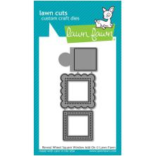 Lawn Cuts Custom Craft Die - Reveal Wheel Square Window Add-On