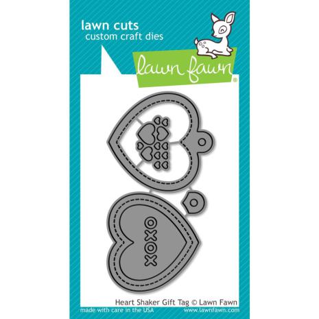 Lawn Cuts Custom Craft Die - Heart Shaker Gift Tag