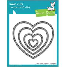Lawn Cuts Custom Craft Die - Just Stitching Hearts