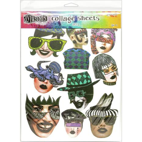 Dylusions Collage Sheets 8.5 X 11 - Set 1