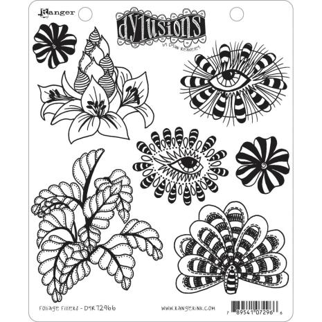 Dylusions Cling Stamps 8.5X7 - Foliage Fillers