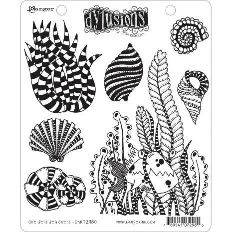 Dylusions Cling Stamps 8.5X7 - She Sells Sea Shells