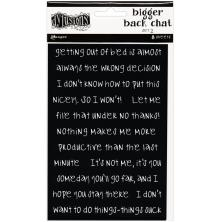 Dylusions Bigger Back Chat Stickers 8/Pkg - Black Set 2