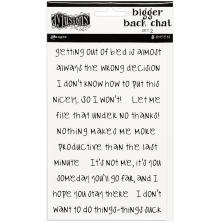 Dylusions Bigger Back Chat Stickers 8/Pkg - White Set 2