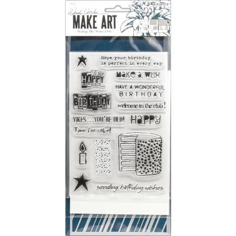 Wendy Vecchi Make Art Stamp Die & Stencil Set - Birthday Bash