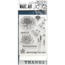 Wendy Vecchi Make Art Stamp Die & Stencil Set - Bravo