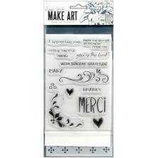 Wendy Vecchi Make Art Stamp Die & Stencil Set - Merci & More