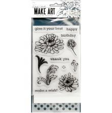 Wendy Vecchi Make Art Stamp Die & Stencil Set - Thank You