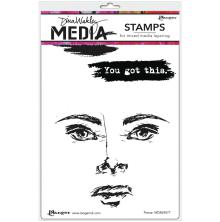 Dina Wakley Media Cling Stamps 6X9 - Fierce