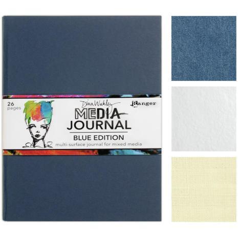 Dina Wakley Media Journal 8X10 - Blue Edition