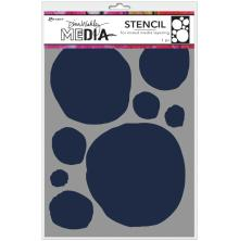 Dina Wakley Media Stencils 9X6 -Circles For Painting