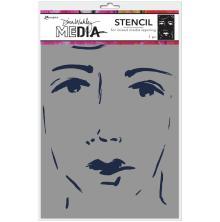 Dina Wakley Media Stencils 9X6 -She Sees