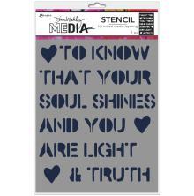 Dina Wakley Media Stencils 9X6 -Soul Shines