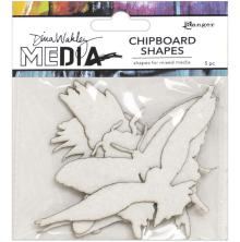 Dina Wakley Media Chipboard Shapes - Flying