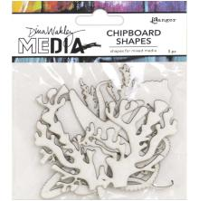 Dina Wakley Media Chipboard Shapes - Ocean
