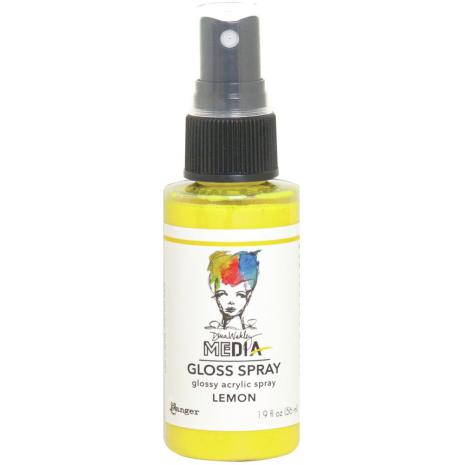 Dina Wakley Media Gloss Spray 56ml - Lemon