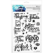 Simon Hurley create. Clear Stamps 6X9 - Encouraging Words