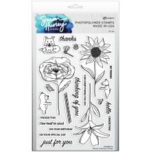 Simon Hurley create. Clear Stamps 6X9 - Flower Picking Friends