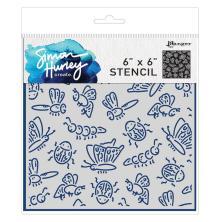 Simon Hurley create. Stencils 6X6 - Cordial Critters