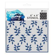 Simon Hurley create. Stencils 6X6 - Leafy Greens