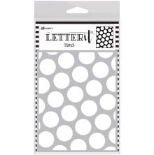 Ranger Letter It Background Stencil 4.75X6 - Polka Dotting