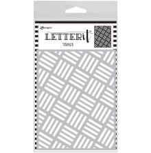 Ranger Letter It Background Stencil 4.75X6 - Rocking Stripes