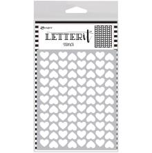 Ranger Letter It Background Stencil 4.75X6 - Treading Hearts