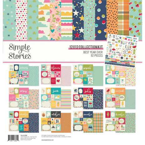 Simple Stories Collection Kit 12X12 - Best Year Ever