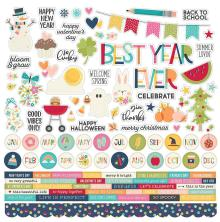 Simple Stories  Best Year Ever Cardstock Stickers 12X12 - Combo