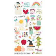 Simple Stories Chipboard Stickers 6X12 - Best Year Ever