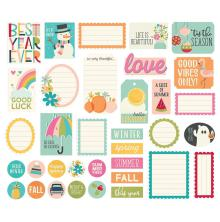 Simple Stories Bits & Pieces Die-Cuts 35/Pkg - Best Year Ever